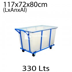 Carro de lavandería HL Culinan blanco