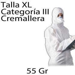 25 monos desechables PP 55gr blanco XL