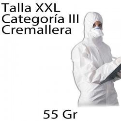25 monos desechables PP 55gr blanco XXL