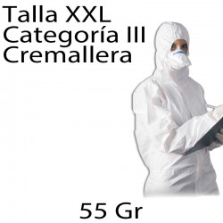 50 monos desechables SMS 55gr blanco XXL