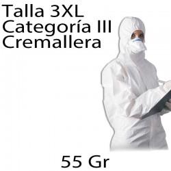 50 monos desechables SMS 55gr blanco 3XL